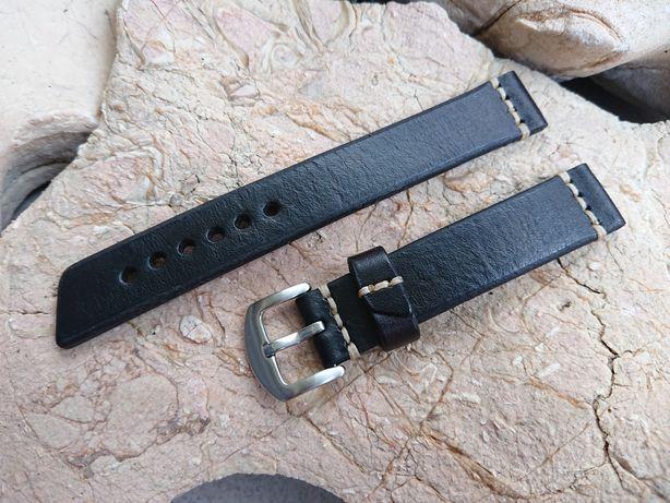 Pasek do zegarka ręcznie robiony - 18 mm. Skóra naturalna hand made.