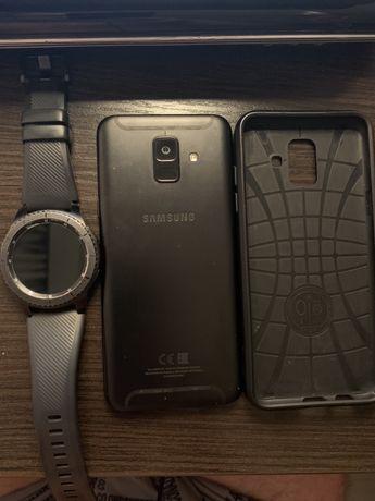 Продам комплект SAMSUNG A6+GEAR S3