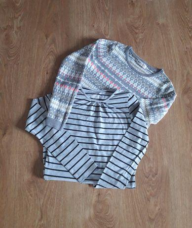 H&M, 134/140 rozmiar, sweter i bluzka.