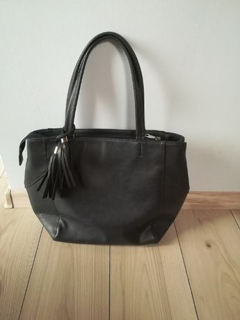 Firmowa torebka shopper bag z chwostem jak nowa
