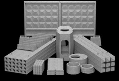 Плиты перекрытия, Фундаментные блоки, Кольца для канализации, Бетон