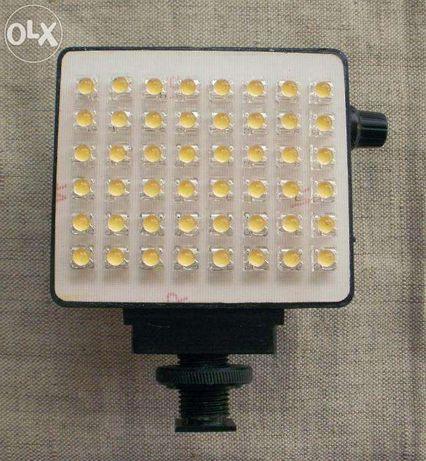 Lampa led do kamery z regulacją jasności świecenia 0- 65W