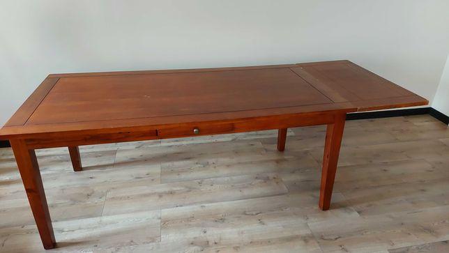 | Duży solidny stół drewniany z dostawką |