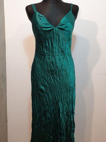 210 Zielona długa sukienka PurplePatch rozmiar 14