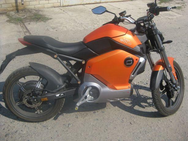 Электрический Мотоцикл SUPER SOCO TS1200. Скутер, велосипед,самокат