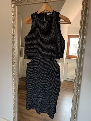 Czarno biała sukienka Bershka