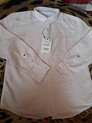 Рубашка оксфорд zara kids в полоску(оригінал)150-152