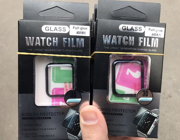 Защитное стекло 3D для Apple Watch 1,2,3,4,5,6 38/40 и 42/44mm, пленка