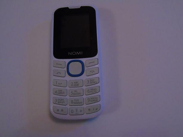 Телефон кнопочний NOMI дві сім карти фонарік коробка зарядка ціна 250г