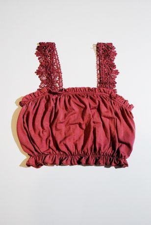топ XS / S футболка женская придает пышность розовый персиковый нежный