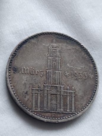 2 marki 1934 F  Kościół z datą lll Rzesza