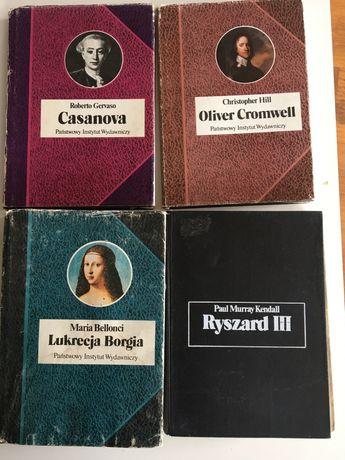 Lukrecja Borgia.Maria Bellonci. Oliver Cromwell .Christopher Hill