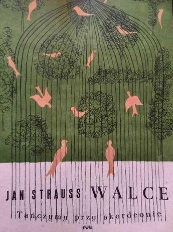 Nuty na akordeon Tańczymy przy akordeonie J. Strauss Walce PWM 83 r.
