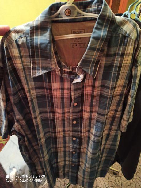 Koszula w kratkę 2XL 100% bawełna