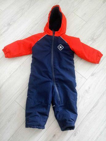 Kombinezon zimowy narciarski na sanki spodnie kurtka 92 cm 18-24