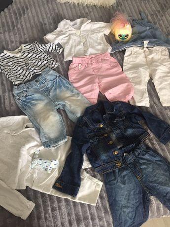 Дитячі речі костюми , штани , кофточки пакетом на дівчинку 6-12 міс