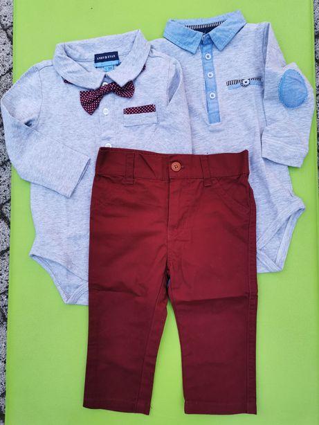 Komplet body spodnie r. 80