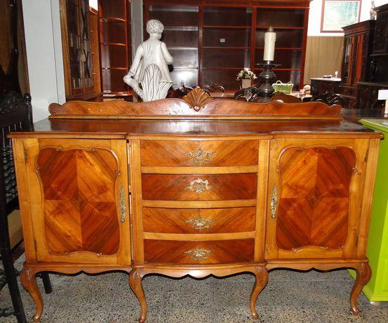 Aparador antigo em madeira estilo Queen Anne - óptimo estado