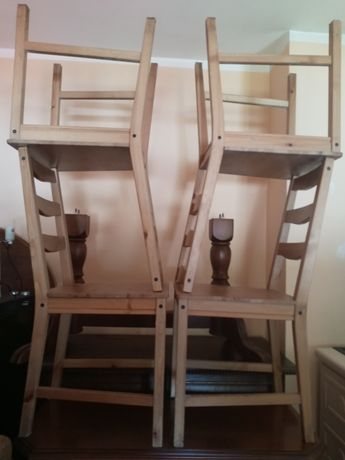 Zestaw krzeseł sosnowych IKEA 4szt