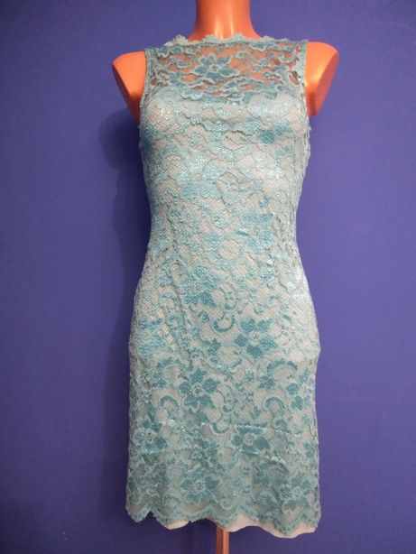 Sukienka z koronki elastyczna dopasowana
