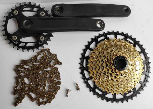 Cassate 11-46 corrente pedaleiro 9 velocidades prato 32 sram 9s