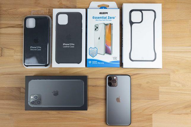 iPhone 11 Pro 64GB Space Gray - pełny zestaw + obudowy