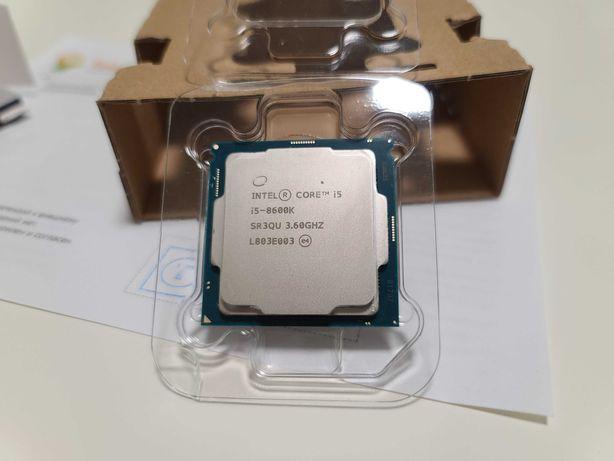 Игровой процессор Intel Core i5 8600K 6-ядер, s1151, на гарантии