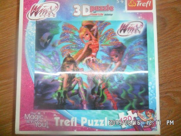 puzzle 3D Trefl+5L 120szt 25x20szt winx club
