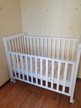Кроватка деревянная Верес + матрац, бампер и постель