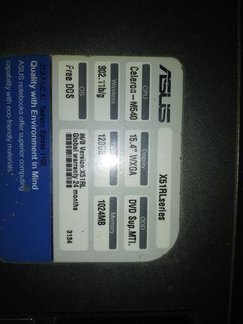 Цена снижена!Ноут Asus X51RL. Celeron M540.Включается экран через раз.