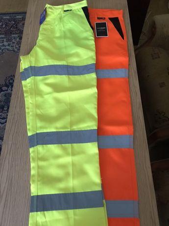 Spodnie robocze odblaskowe nowe rozmiar 36,38,40..