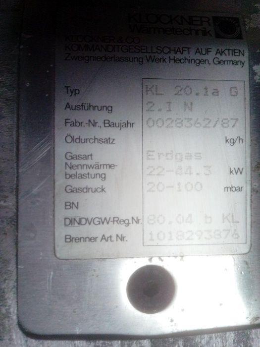 SIEGER piec na paliwo stałe gaz / olej opałowy + bojler 105 L DREWNO