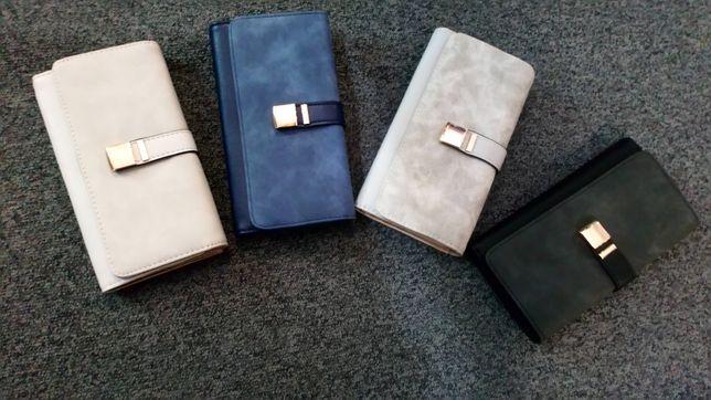 Nowy portfel damski 4 kolory pojemny duży śliczny