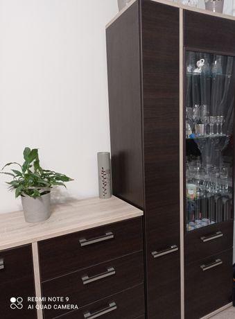 Komplet mebli pokojowych salon Agata - KENDO wenge i dąb sonoma