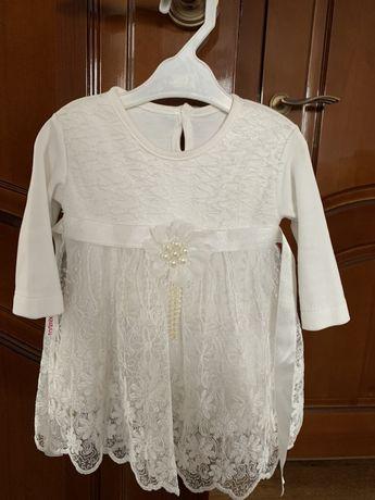 Платье для девочки НОВОЕ (размер 62-68)