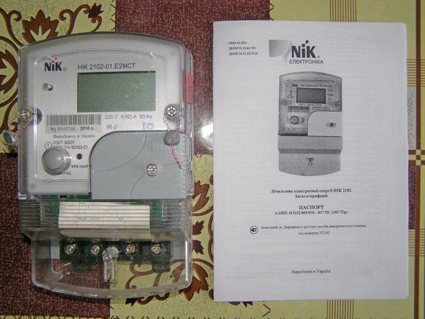 NIK 2102-01.Е2МСТ счетчик однофазный электронный многотарифный
