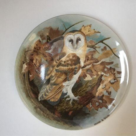 Коллекционные фарфоровые тарелки совы Coalport