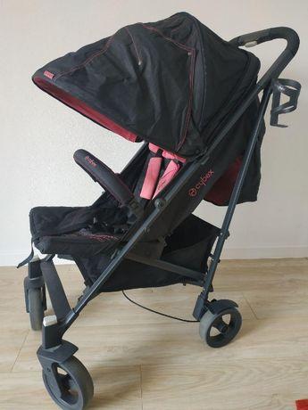 Прогулочная коляска трость Cybex Callisto черно-розовая