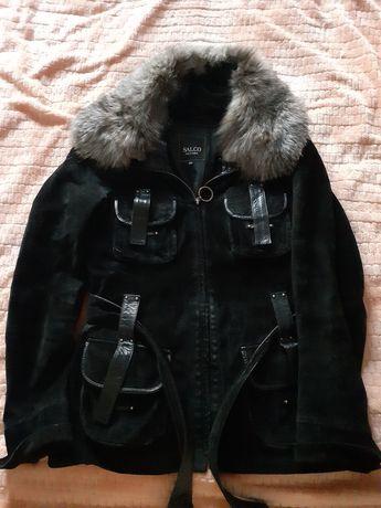 Жіноча куртка натуральна замш-кожа
