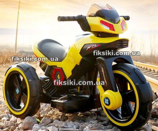 Детский мотоцикл электромобиль 3927 желтый, Дитячий електромобiль