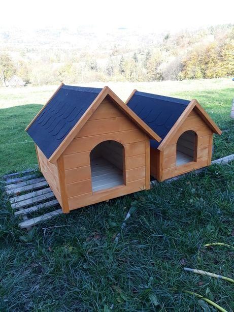 Budy domki pla psów solidne z drewna