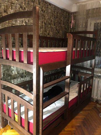 Купить детскую мебель кровать с дерева двухъярусная кроватка трансформ