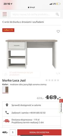 Biurko i regał Luca Juzi