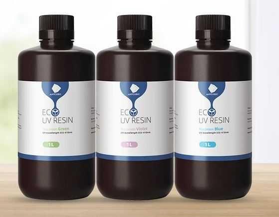 Resina Anycubic Eco - garrafas 1 litro - Cheiro reduzido, várias cores
