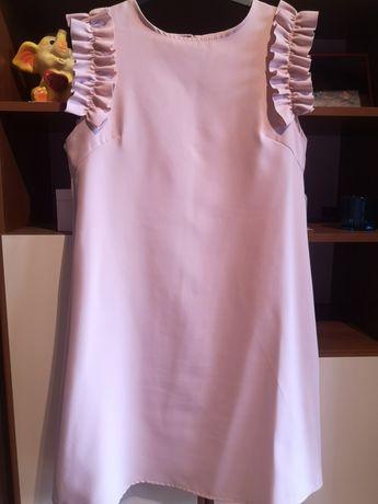 Pudrowa sukienka na wesele, imprezę 40 L