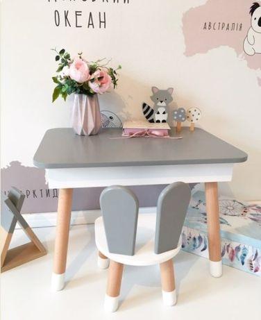 Дитячий стілець. Детский столик и стул. Детский столик для творчества