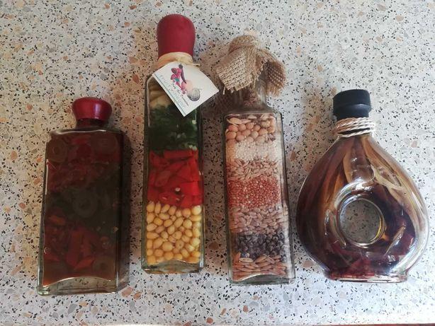 Набор декора на кухню (бутылочки специй)