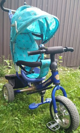 Детский трехколесный велосипед с родительской ручкой Azimut -Trike