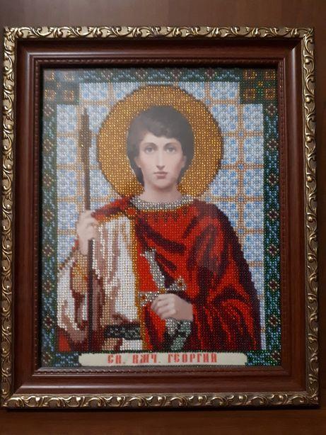 Икона Георгий бисер