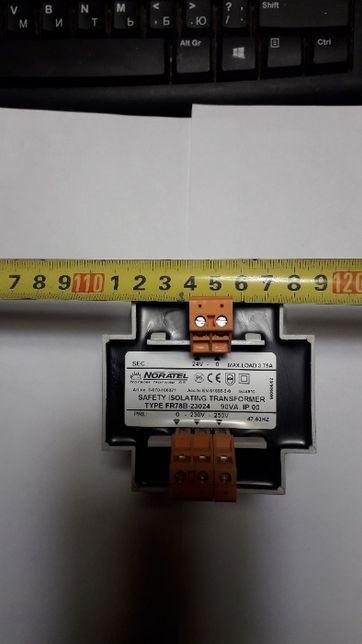 Трансформатор: залитый; 90ВА; 230/250ВAC; 24В;3.7амп Монтаж: DIN;